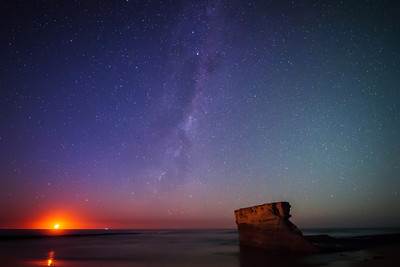 Birdrock, The Moon and The Milky Way, Jan Juc, Victoria